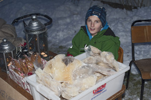 Svein Fagerviks barnebarn solgte blant annet Sveins gode lutefisk.