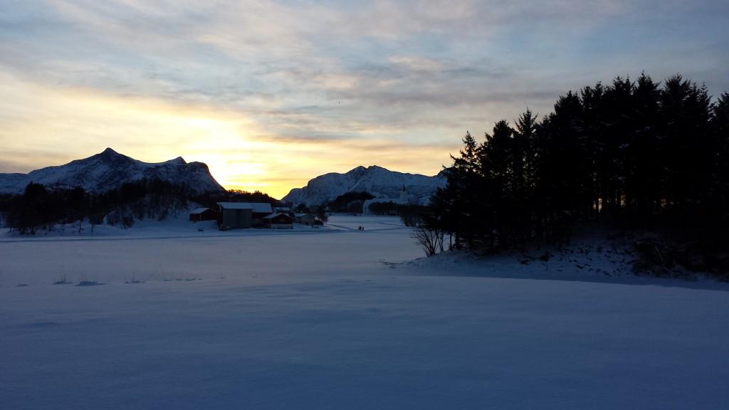 Nydelige forhold i skisporet. Foto: TB