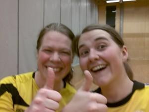 Vivian og Karin vant kampen.