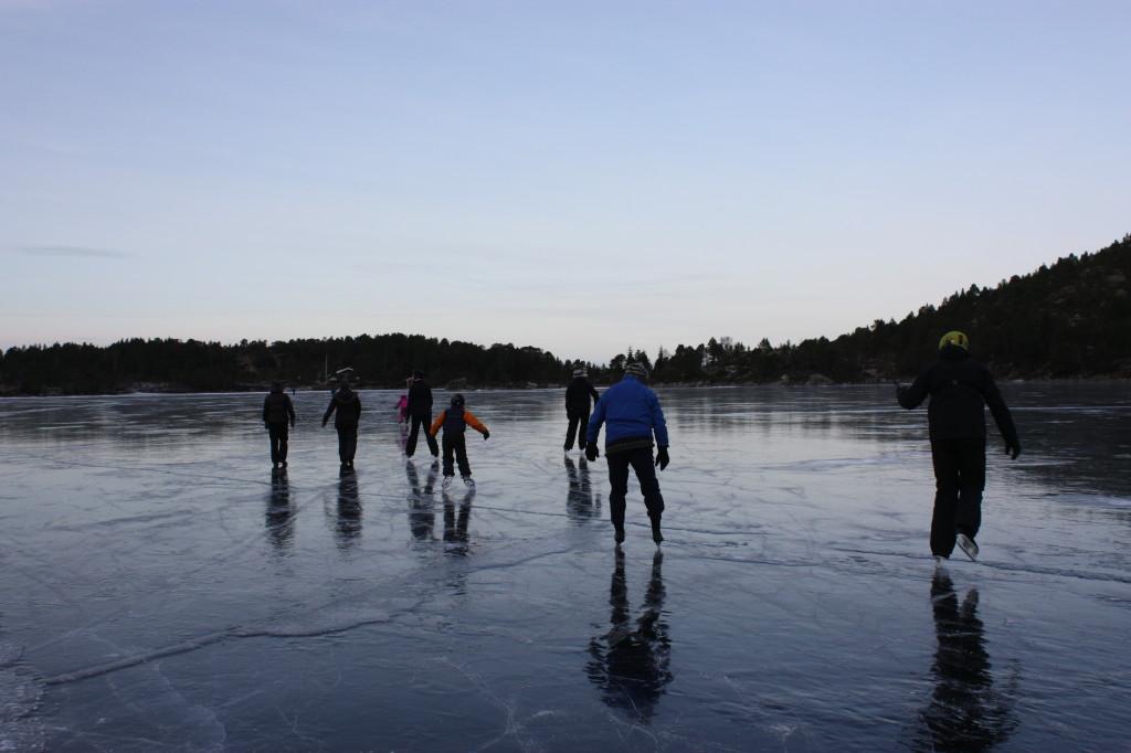 Det var nydelig vær, ca 8 minusgrader og god is.