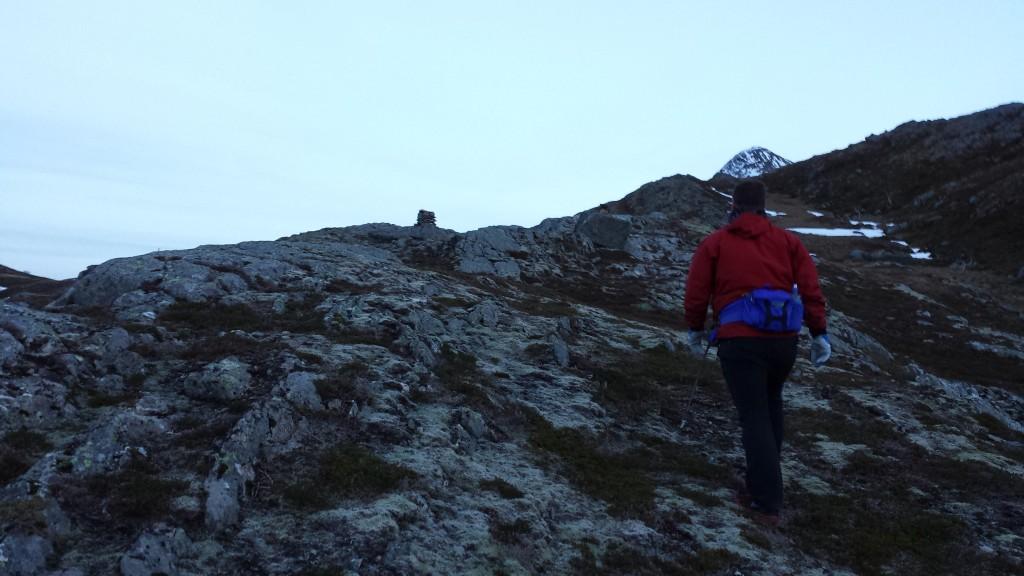 På tur inn i fjellet. Foto: TB