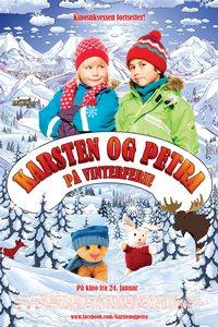 Karsten og Petra på vinterferie - plakat