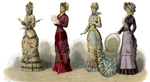 French costume: 'Present Fashions', (1882).