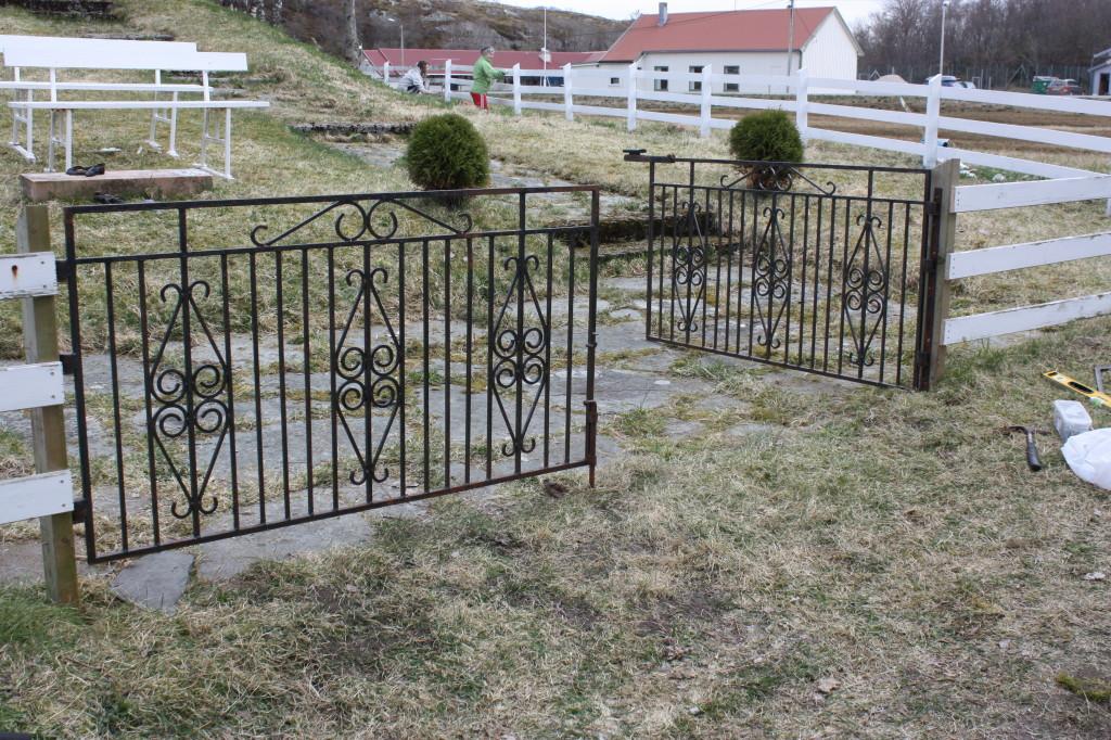 Og slik ble den nye porten.