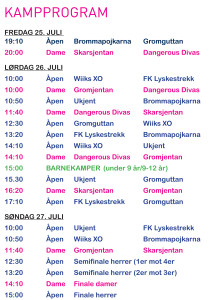 program meloyturneringa 2014 oppsett