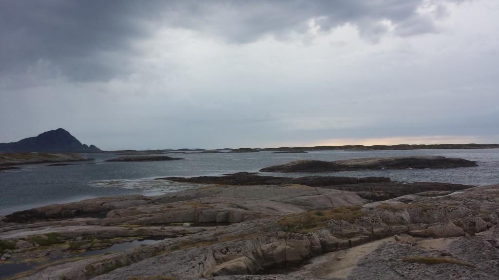 Utsikt utover Meløyvær. Foto: TB