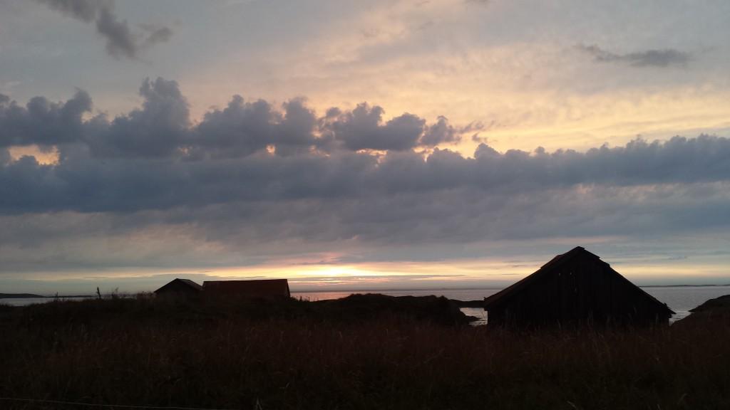 Mektige skyer over Skagen. Foto: TB
