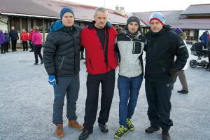 Einar Johan Steinvei, Helge Tvenning, Thomas Elnan og Frank Wiik Rendal i tilflyttergruppa.