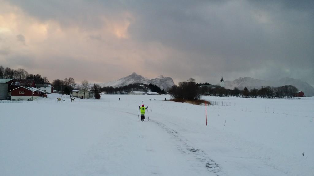 Så i går og i dag har det vært kjørt opp skispor.