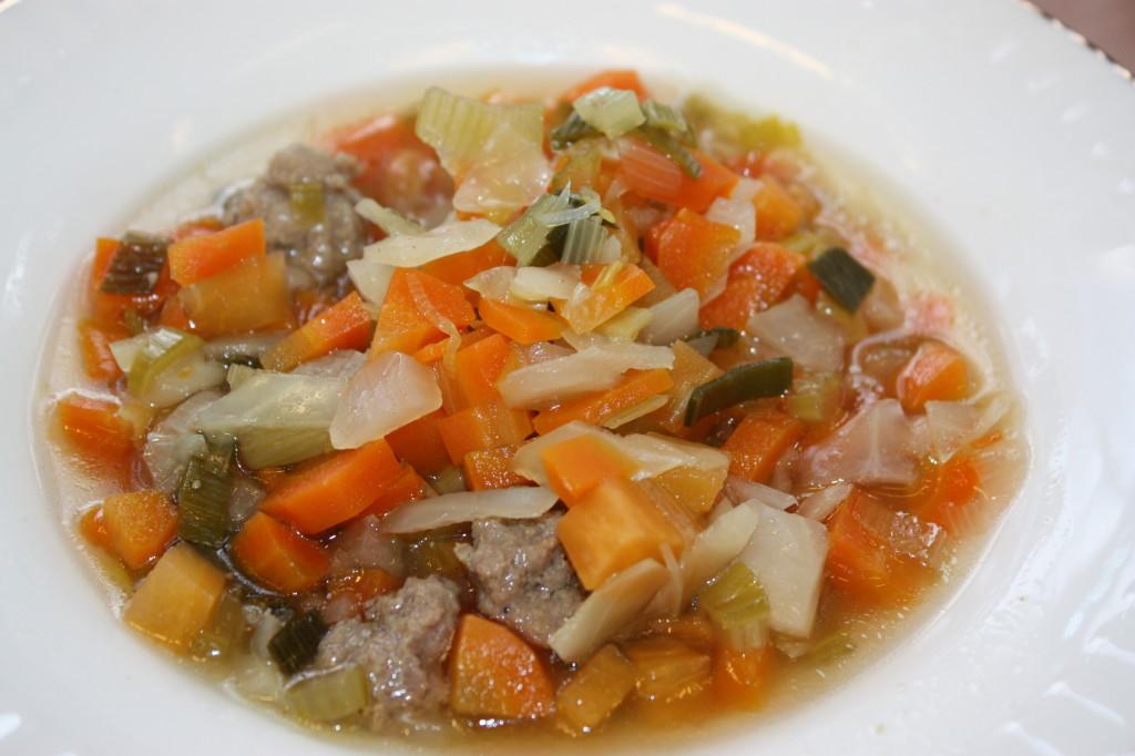 Deilig grønnsaksuppe.