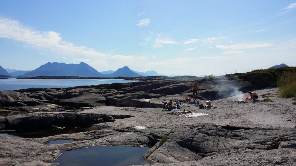 Skjærgården har også blitt flittig brukt. Her er et bilde fra Henrikøya i slutten av august.