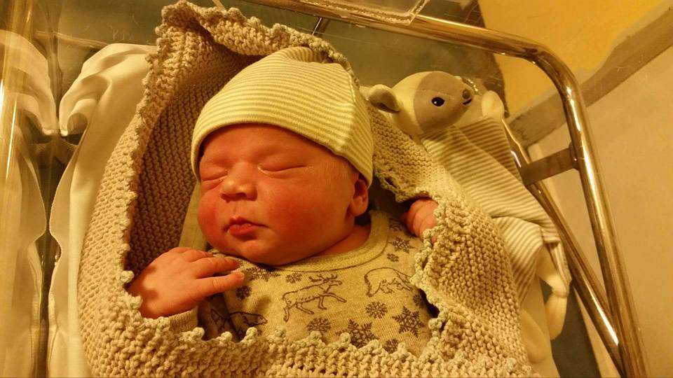 3. juladag ble Hjalmar født, og ble det tredje barnet født på Meløya i 2015. Velkommen til verde<3