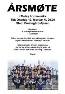 Årsmøte Meløy Hornmusikk @ Prestegårdsfjøsen